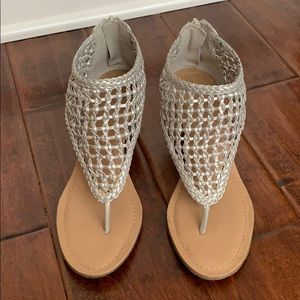 BCBGENERATION Silver Netted Wedges